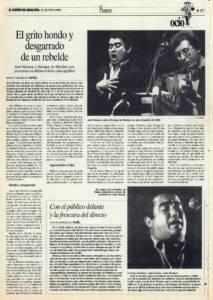 El grito hondo y desgarrado de un rebelde – José Menese, Enrique de Melchor | Con el público delante y la frescura del directo | 23 jun 1995