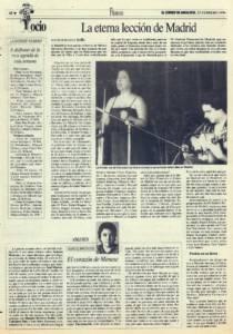 La eterna lección de Madrid | Opinión: El corazón de José Menese | 23 feb 1996