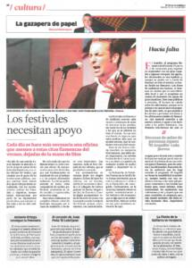 Los festivales necesitan apoyo | El corazón de Juan Peña El Lebrijano | Opinión: Hacía falta – El Arquillo, El Correo TV | 31 jul 2015