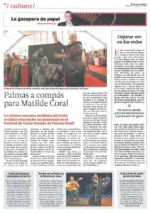 Palmas a compás para Matilde Coral | Opinión: Dejarse ver en las redes | 14 ago 2015