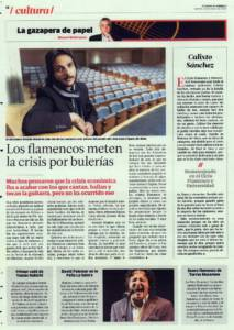 Los flamencos meten la crisis por bulerías | Opinión: Calixto Sánchez | 22 ene 2016