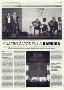 Cuatro gatos en la barriga | 'Garnata' – Marina Heredia, Miguel Ángel Cortés, El Bola de Jerez, Joan Albert Amargós | XVIII Bienal de Flamenco | Reales Alcázares | 19 sep 2014