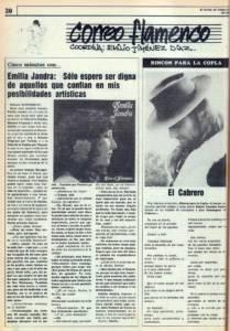 Emilia Jandra: «Solo espero ser digna de aquellos que confían en mis posibilidades artísticas» | 16 jul 1985