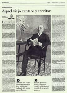 Aquel viejo cantaor y escritor – Fernando el de Triana | El Correo de Andalucía | 1 nov 2014