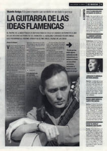 Vicente Amigo, la guitarra de las ideas flamencas | 22 feb 2001