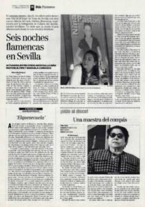 Seis noches flamencas en Sevilla | Oído al disco: 'Ahora', Bernarda de Utrera | Opinión: Elquesecuela | 19 feb 1999