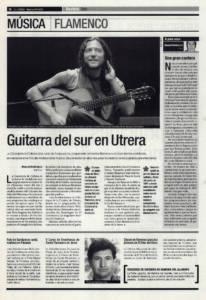 Guitarra del sur en Utrera – Circuito Andaluz de la Música - Tomatito | Opinión: Una gran cantera - V Semana Flamenca de Linares | 27 oct 2000