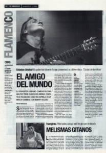 El amigo del mundo – Gira de Vicente Amigo por EEUU, Ciudad de las ideas | Melismas gitanos – Remedios Amaya en Fuengirola | 7 nov 2002