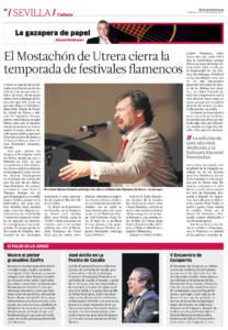 El Mostachón de Utrera cierra la temporada de festivales flamencos - Manuel Valencia | José Anillo, en La Puebla de Cazalla | 3 nov 2017