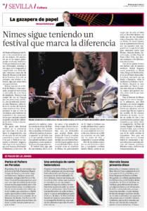 Nimes sigue teniendo un festival que marca la diferencia - Rafael Riqueni | Niño de Elche, antología de cante heterodoxo | 12 ene 2018
