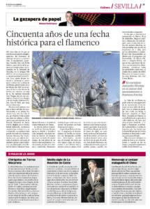 Cincuenta años de una fecha histórica para el flamenco – Monumento a la Niña de los Peines, de Antonio Illanes | Medio siglo de la Reunión de Cante, La Puebla | 4 may 2018