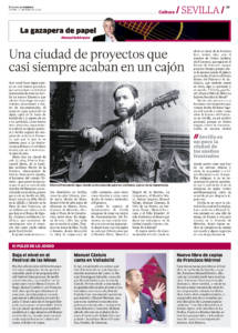 Una ciudad de proyectos que casi siempre acaban en un cajón | Manuel Castulo canta en Valladolid | Nuevo libro de coplas de Francisco Mármol, Letras de la campiña morisca | 11 may 2018